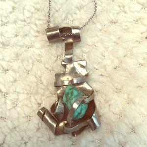 Jewelry - Handmade Turquoise Pendant Necklace